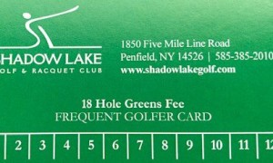 Frequent Golfer Cards