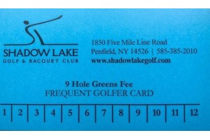 Frequent Golfer Card - 9 Holes Walking